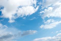 Stock Photo of Sky and clouds with copyspace, place for text. Azure sky