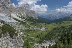 Stock Photo of Falzarego Pass Dolomites Alps Province of Belluno Veneto region Italy Europe