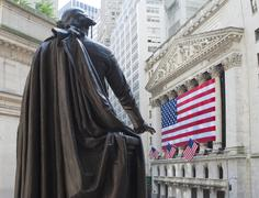 Stock Photo of Monument of George Washington in Federal Hall