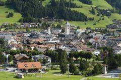 Innchen or San Candido Dolomites TrentinoAlto Adige Province of South Tyrol Stock Photos