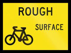 Stock Illustration of Rough Surface For Cyclists In Australia