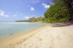 Stock Photo of Beach of Anse Takamaka Praslin Island Seychelles Africa
