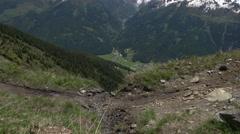 Mountainbike Race slow-motion Stock Footage