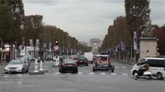 Paris traffic France Champs-Élysées Stock Footage