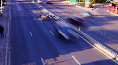 Otopeni, near Bucharest, Romania - October2015 Traffic on national highway.Zoom Stock Footage
