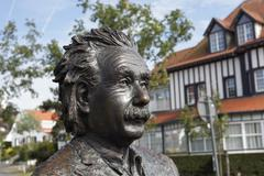Albert Einstein bronze sculpture by the Belgian sculptor Johnny Werkbrouck De Stock Photos