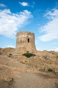 Genoese tower Gulf of Porto Corsica France Europe Stock Photos