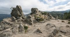 Rock formation mountain landscape L39Ospedale Alta Rocca Corsica France Europe Stock Photos