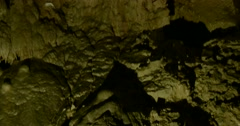 Cave carbonate rock Stock Footage