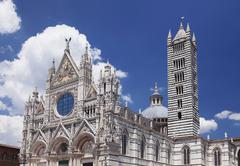 Cathedral of Santa Maria Assunta UNESCO World Heritage Site Siena Tuscany Italy Stock Photos