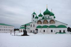 Alexander-Svirsky Orthodox monastery Stock Photos