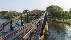 Stock Photo of Historical River Kwai Bridge route of the ThailandBurma Railway Death Railway