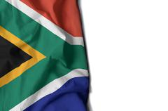 Waving flag of south africa Stock Illustration