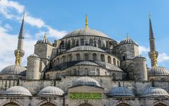Blue Mosque Sultan Ahmet Camii Sultanahmet European Side Istanbul - stock photo