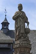 Fountain sculpture by Johann or Johannes Muller later called Regiomontanus - stock photo