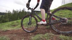 Mountainbike slow-motion Stock Footage