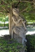 Statue of a Faun in the courtyard garden Residenz Wurzburg Lower Franconia Stock Photos