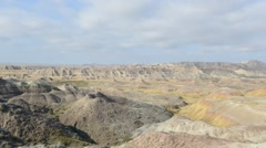 Timelapse Landscape in Badlands National Park, South Dakota Stock Footage