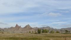 Timelapse Landscape in Badlands National Park, South Dakota - stock footage