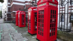 London red phone booth Stock Footage