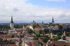 Stock Photo of Upper Town with Alexander Nevsky Cathedral Aleksander Nevski Katedraal and Dom