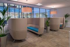 Comfortable Commercial Seating Area - stock photo