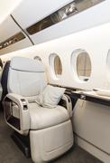 Luxury interior aircraft business aviation - stock photo