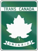 Stock Illustration of Trans-Canada Highway Template