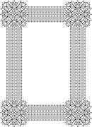 Stock Illustration of Vintage, decorative frame. Can be used for Retro vintage greeting card or inv