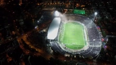 Aerial flying by soot of the Toumba Stadium Stock Footage