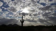 Desert Landscape Fast Time-lapse Stock Footage