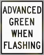 Advanced Green When Flashing in Canada Stock Illustration