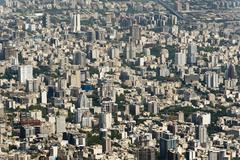 View from Mount Tochal Tehran Iran Asia Kuvituskuvat