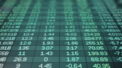 Blue Stock Market Ticker Moving Up Loop Stock Footage