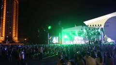 Kazakhstan, Almaty, City Square - July 6, 2015: a large charity concert Spirit Stock Footage