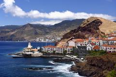Holiday resort Quinta do Lorde peninsula Ponta de Sao Lourenco Canical Madeira - stock photo
