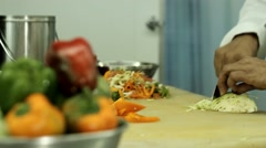 Cutting and chopping Stock Footage