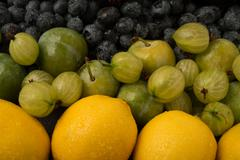Colourful Fruit Large and Small - stock photo