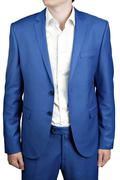 Undone two-button men dress bridegroom or prom, light blue color. Stock Photos
