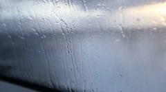 Ocean Spray hitting the boat window - stock footage