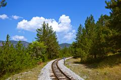 Journey in Sarganska Osmica (Shargan eight) - Serbia Stock Photos