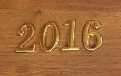 Numbers 2016 on door - new year background Kuvituskuvat