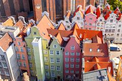 Gdansk. Top view Stock Photos