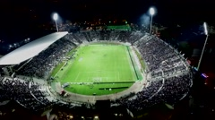 Aerial flying by soot of the Toumba Stadium - stock footage