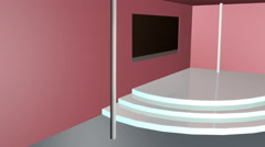 3d room design studio Stock Footage