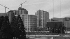Aged film of city Stock Footage