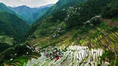 Rice terraces fields in Ifugao province. Philippines. Time lapse  Stock Footage