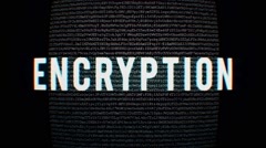Background code style with text encryption - stock footage