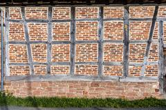 Detail of half-timbered house - stock photo