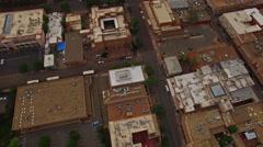 Aerial New Mexico Santa Fe - stock footage